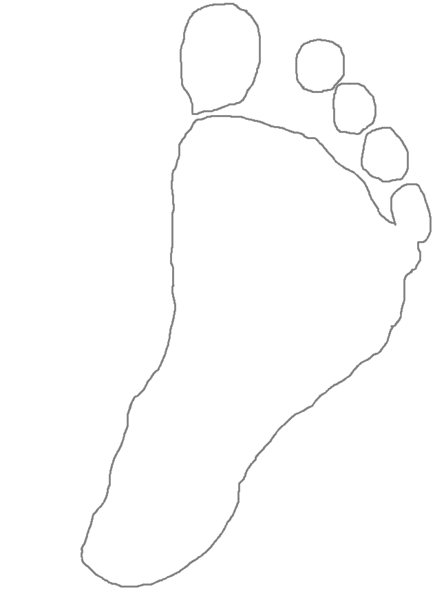 newborn foot outline
