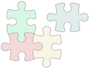 The puzzle pieces from multple papers fits together